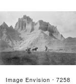 #7258 Stock Image: Sioux Indians Entering The Bad Lands