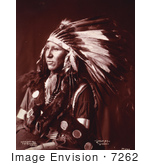 #7262 Stock Image: Sioux Native American Indian Shout At
