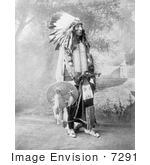 #7291 Stock Image: Sioux Native American Named Turning Bear