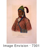 #7301 Creek Indian Warrior Named Me-Na-Wa