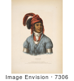 #7306 Stock Photo Of Ledagie A Creek Native American Indian Chief