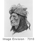 #7310 Portrait Of A Creek Native American
