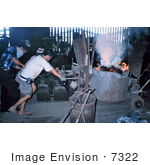 #7322 Picture of People in a Foundry Factory Who Were Involved in an Industrial Hygiene Sampling Course in Manila, Philippines by KAPD