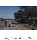#7325 Picture of a Man and Woman Hitchhiking in Wankie, Rhodesia by KAPD