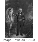 #7328 Image Of Zachary Taylor With His White Horse
