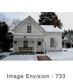 #733 Photograph Of The Historical Turner House In Jacksonville Oregon