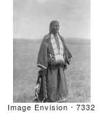 #7332 Stock Photograph Of Two Charger Woman Brule American Indian