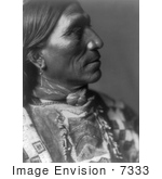 #7333 Stock Photography: Little Hawk, Brule Native American Indian by JVPD