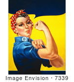 #7339 Stock Picture Of Rosie The Riveter