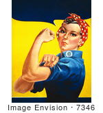 #7346 We Can Do It! Rosie the Riveter Image by JVPD