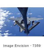 #7359 Stock Photo Of A Kc-135 Stratotanker Fueling A F-15k Eagle