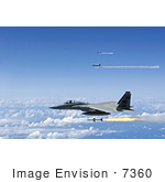 #7360 Stock Image Of F-15 Eagles Firing Aim-7 Sparrow Missiles