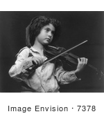 #7378 Stock Image of a Child Playing a Violin by JVPD