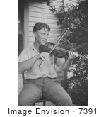 #7391 Stock Image Of Wayne Perry Playing A Violin