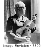 #7395 Picture Of Dr Apgar Holding Violin