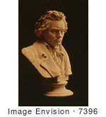 #7396 Stock Picture Of A Ludwig Van Beethoven Statue