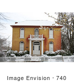 #740 Photograph Of The Bf Dowell House Facade Jacksonville Oregon
