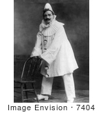 #7404 Stock Picture of Enrico Caruso as a Clown in Pagliacci by JVPD