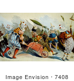 #7408 Stock Picture Of A Group Of Circus Clowns