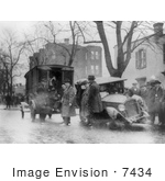 #7434 Stock Picture Of An Auto Wreck During Prohibition