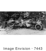 #7443 Stock Picture of a Bootlegger Car Wrecked During Prohibition by JVPD