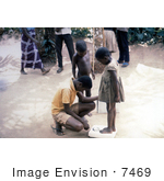 #7469 Picture Of A Nigerian Children Being Weighed On A Scale