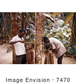 #7470 Picture of African Children Getting Their Height Measured by KAPD