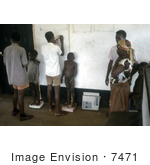 #7471 Picture Of African Children Being Weighed On Scales