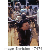 #7474 Picture Of A Nigerian Children Getting Vaccinated For Measles And Smallpox During The Biafran War