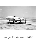 #7489 Stock Picture Of A Lockheed P-80a Airplane
