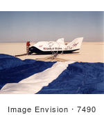 #7490 Stock Picture Of A X-38 Lakebed Touchdown