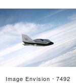 #7492 Stock Picture Of A X-38 Ship In Free Flight