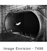 #7496 Stock Picture Of A Hl-10 In Wind Tunnel