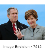 #7512 Photo Of George W Bush And First Lady Laura Bush