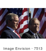 #7513 George W Bush And Donald H Rumsfeld