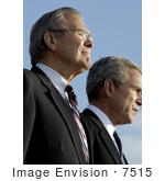 #7515 Donald H Rumsfeld And George W Bush