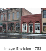 #753 Photograph Of Downtown Jacksonville Oregon In The Snow