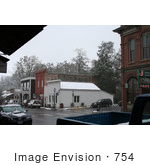 #754 Image Of Snow Falling In Jacksonville Oregon