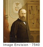 #7540 Picture Of President Garfield