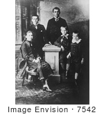 #7542 Picture of the Children of James Abram Garfield by JVPD