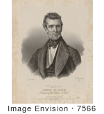 #7566 Picture Of The 11th American President James Polk