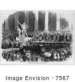 #7567 Picture Of The Inauguration Of President Polk