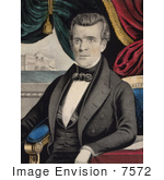 #7572 Picture Of James Knox Polk 11th American President
