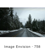 #758 Image Of The Highway 238 In Winter