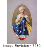 #7582 Picture Of Betsy Ross Sewing The Betsy Ross Flag