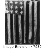 #7585 Picture Of The Original Stars And Stripes Flag With 13 Stars