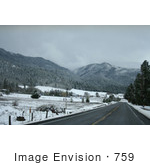 #759 Photograph Of A Snowy Landscape Ruch Oregon