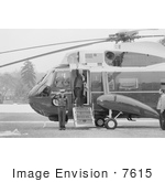 #7615 Picture of Jimmy Carter Boarding Marine One and Waving Goodbye by JVPD