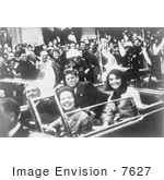 #7627 Picture of the JFK Motorcade on the Day of the Kennedy Assassination by JVPD