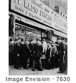 #7630 Image Of A Crowd Waiting On News Of Jfk On The Day Of Assassination